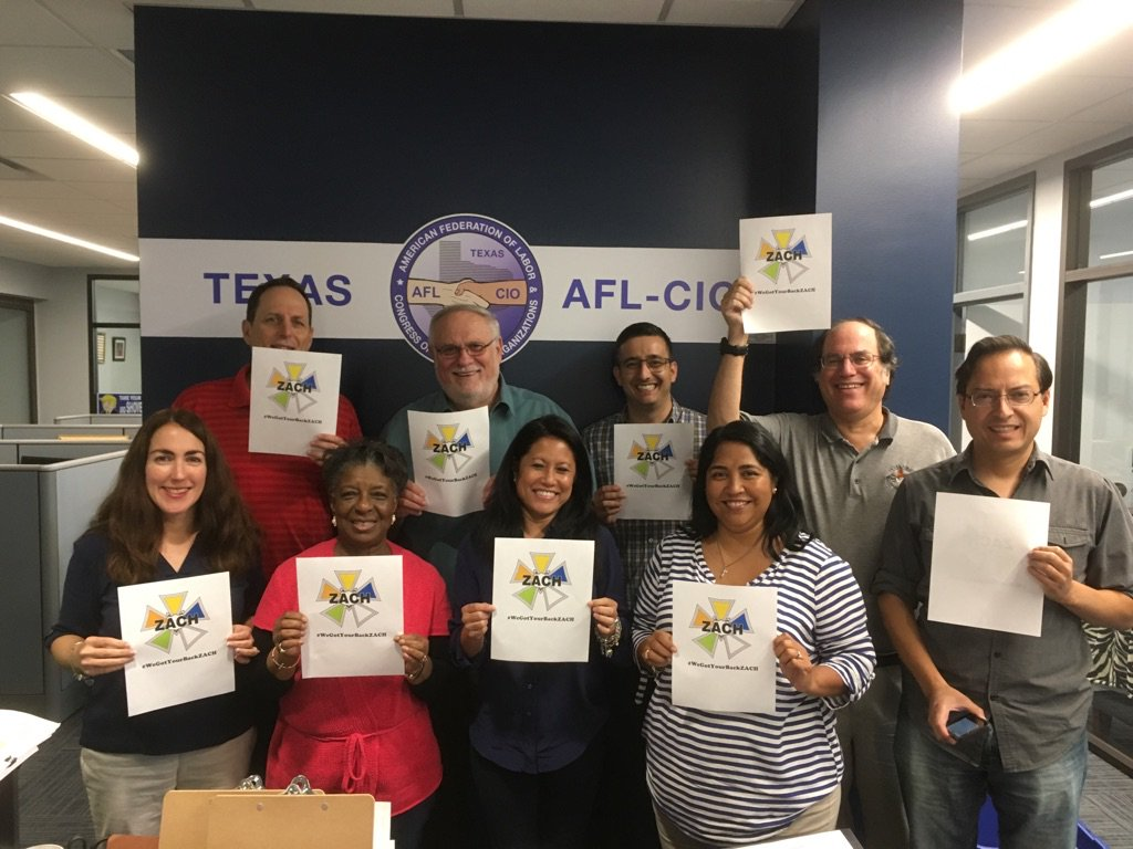 Texas AFL-CIO Office! #WeGotYourBackZACH