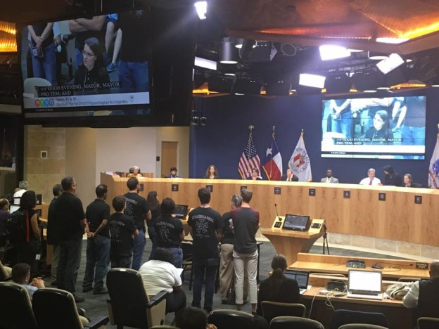 ZACH Employee Testimonials & IATSE 205 at Austin City Council