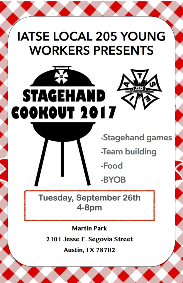 2017 Stagehands Cookout Flyer