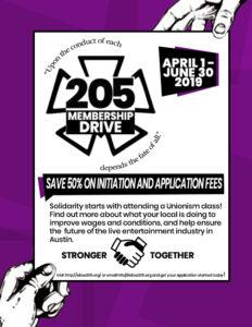 205 Membership Drive Flyer