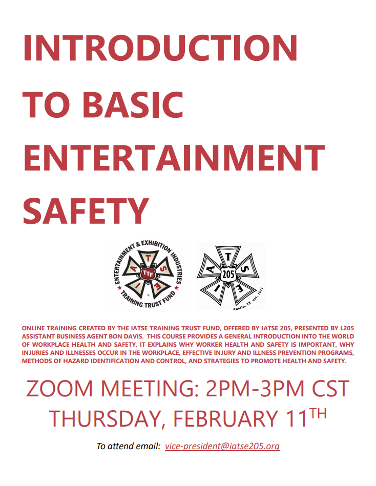 Introduction to Basic Entertainment Safety Flyer